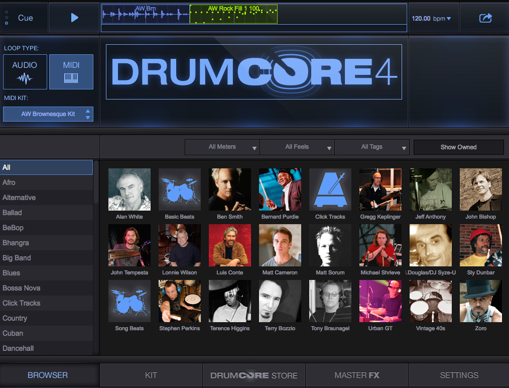 DrumCore 4 Audio and MIDI Drum Loops and Drum Kits for Songwriters Updated to Include UI Zooming