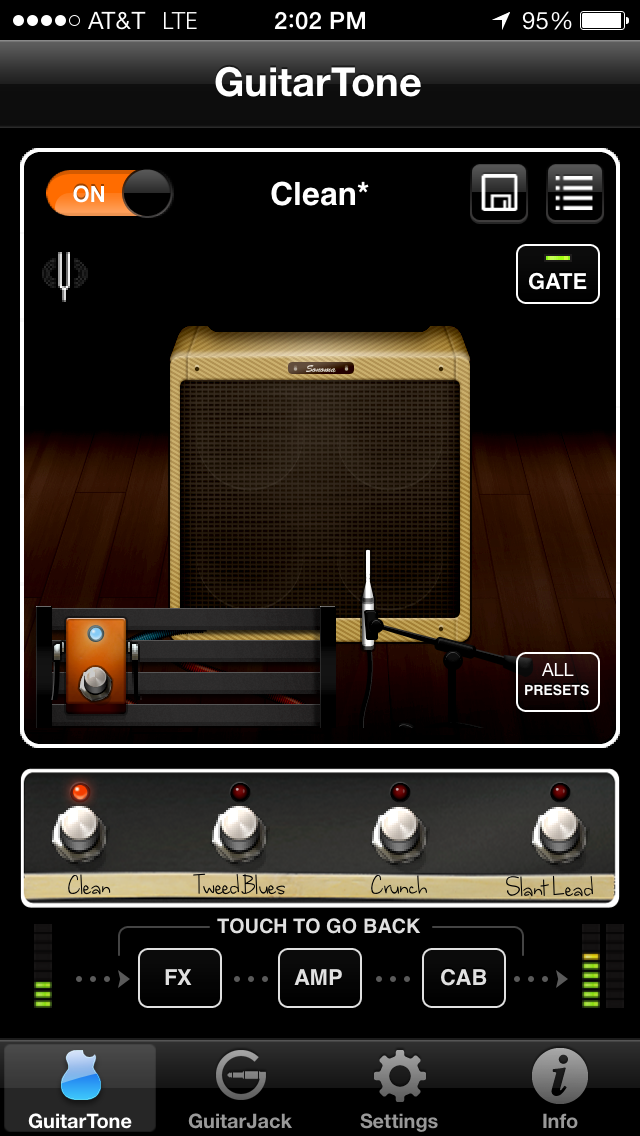 GuitarTone Main Screen