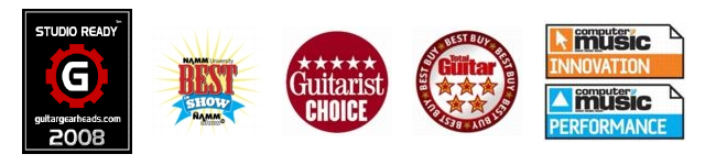 RiffWorks Best Guitar Recording Software Awards