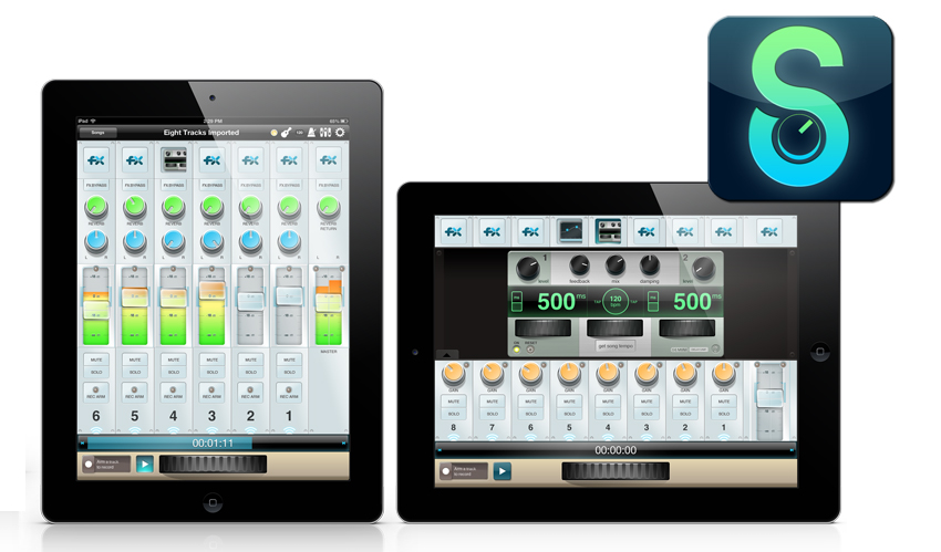 StudioTrack multitrack recording app for iPad.