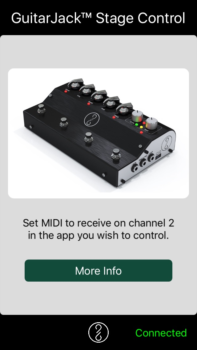 GuitarJack Stage Audio Interface Control App
