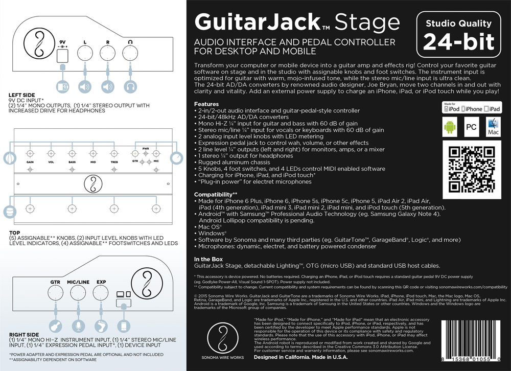 GuitarJack Stage Box Back