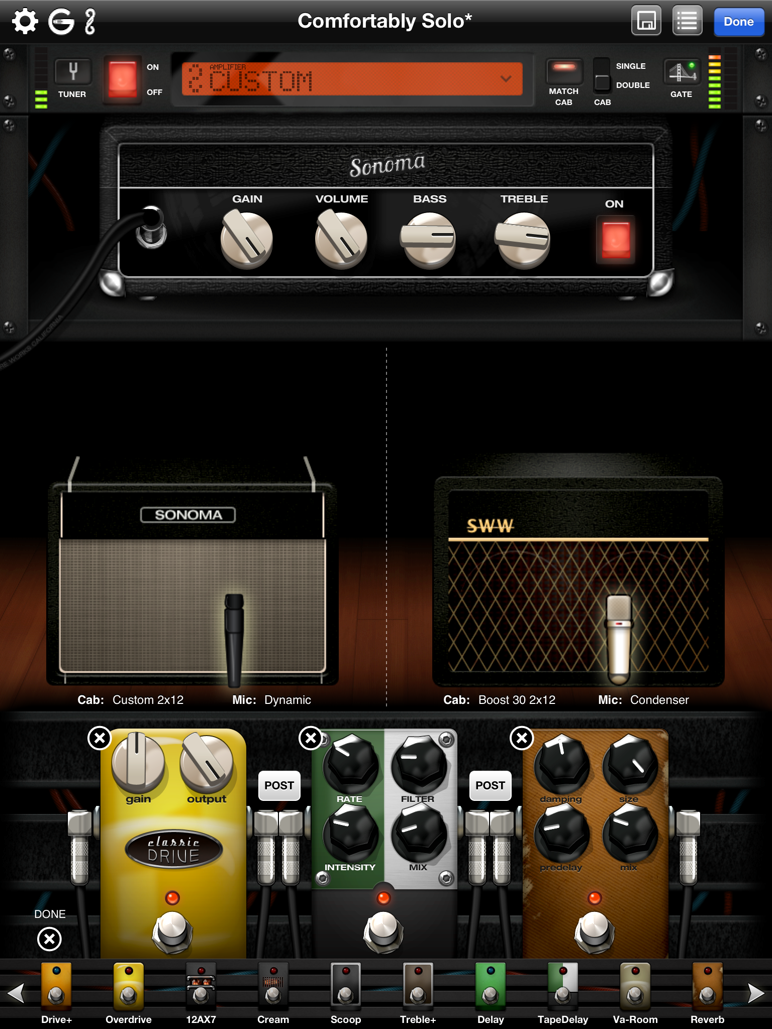 Sonoma Wire Works Guitartone Amps And Effects For Ios Guitar Tone Wiring 2 Ipad Screen Edit