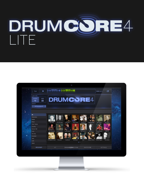 DrumCore 4 Lite plug-in for Pro Tools, Logic, Cubase and more